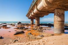 Pollution Water Ocean Pier Beach Stock Photos
