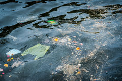 Pollution in the water. Royalty Free Stock Photos
