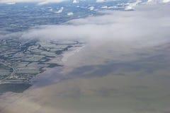 Pollutions dans la mer. Images libres de droits