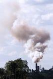 Pollutionvfrom kontrpara i dym Obrazy Royalty Free