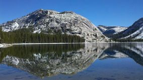 Polly Dome Reflection Yosemite National-Park Stock Afbeeldingen