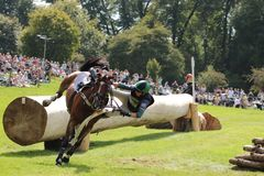 Polly Stockton Burghley Horse Trials lizenzfreie stockfotos