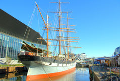 Polly woodside ship. The famous historic polly woodside ship docked at the docklands in melbourne australia Stock Photo