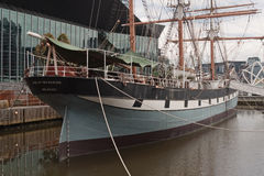 Polly Woodside ship. Polly Woodside tall ship became museum ship after restoration  and very popular attraction in Melbourne, Victoria, Australia Stock Image