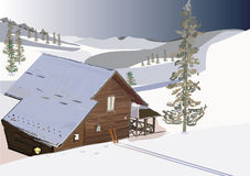 A winter house. Stock Photo