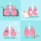 Polmone con inquinamento atmosferico royalty illustrazione gratis