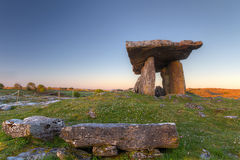 Polnabrone Dolmen in Burren Stock Images