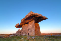 Polnabrone Dolmen in Burren, Co. Clare Stock Photo