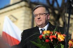 Polnad的Bronislaw Komorowski总统 库存照片
