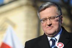 Polnad的Bronislaw Komorowski总统 库存图片