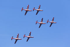 Polnische Aerobatic Teamdemonstration Lizenzfreies Stockfoto