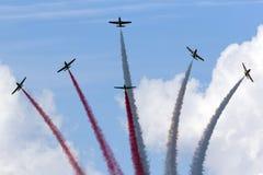 Polnische Aerobatic Teamdemonstration Stockbild