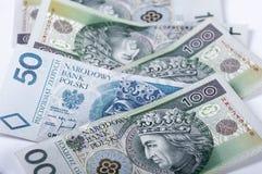 Polnische Banknoten stockfotos