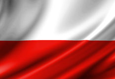 Polnische Flagge lizenzfreie abbildung