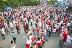 Polnische Gebläse in Warschau lizenzfreies stockfoto