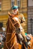 Polnische Kavallerie während des Jahrbuches des polnischen nationalen und gesetzlichen Feiertages der Konstitutions-Tag am 3. Mai Stockbilder
