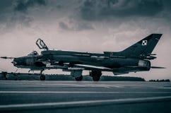 POLNISCHE LUFTWAFFE SUKHOI SU-22 lizenzfreie stockfotos