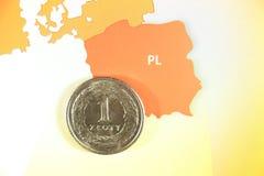 Polnische Münze Lizenzfreies Stockbild