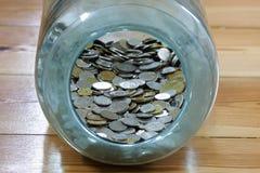 Polnische Münzen Stockfoto