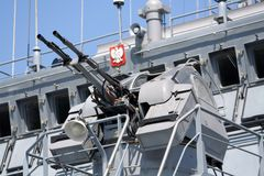Polnische Marinelieferung Stockbild