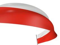 polnische Markierungsfahne 3D Lizenzfreies Stockfoto