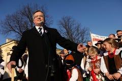 Polnische Präsident BronisÅ 'Aw Komorowski Stockbilder