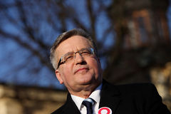 Polnische Präsident BronisÅ 'Aw Komorowski Stockfotos