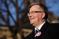 Polnische Präsident BronisÅ 'Aw Komorowski Lizenzfreie Stockfotografie