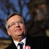 Polnische Präsident BronisÅ 'Aw Komorowski Lizenzfreies Stockbild