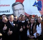 Polnische Präsident BronisÅ 'Aw Komorowski Lizenzfreie Stockfotos