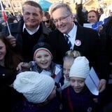 Polnische Präsident BronisÅ 'Aw Komorowski Stockbild
