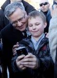 Polnische Präsident BronisÅ 'Aw Komorowski Stockfoto