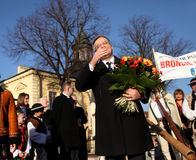 Polnische Präsident BronisÅ 'Aw Komorowski Lizenzfreie Stockbilder