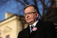 Polnische Präsident BronisÅ 'Aw Komorowski Lizenzfreies Stockfoto