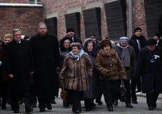 Polnische Präsident BronisÅ 'Aw Komorowski, 70. Tag der Befreiung auf Nazi German-concentraction Lizenzfreie Stockfotos