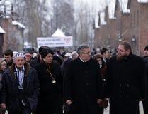 Polnische Präsident BronisÅ 'Aw Komorowski, 70. Tag der Befreiung auf Nazi German-concentraction Stockbilder