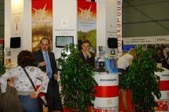 Polnische touristische Organisation an TT Warschau Lizenzfreie Stockfotos