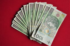 Polnische Zlotyrechnungen stockbild
