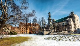 Polnischer Dichter Adam Mickiewicz des Monuments Stockbild