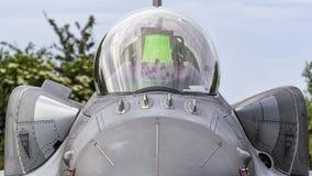 Polnischer F-16D kämpfender Falke Stockbild