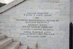 Polnischer Kirchhof bei Montecassino Lizenzfreie Stockfotos