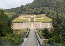 Polnischer Kriegs-Kirchhof bei Monte Cassino Stockbild