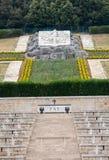 Polnischer Kriegs-Kirchhof bei Monte Cassino - ein Friedhof von polnischen Soldaten, die im Kampf von Monte Cassino von 11 bis 1  Lizenzfreie Stockbilder