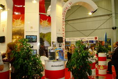 Polnischer touristischer Vorstand an TT Warschau Lizenzfreie Stockbilder