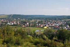 Polnisches Dorf Stockfotografie