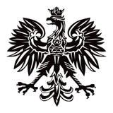 Polnisches Emblem in der schwarzen Farbe Stockbild