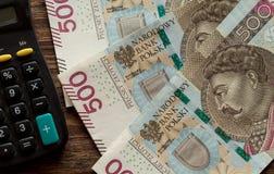 Polnisches Geld die höchste Bezeichnung stockfotografie