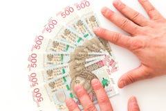 Polnisches Geld, die höchste Bezeichnung/weißer Hintergrund lizenzfreie stockfotografie