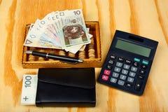 Polnisches Geldgehalt Lizenzfreies Stockfoto