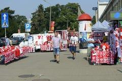 Polnisches lockert Zubehörstände auf Stockfotografie